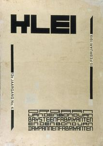 Theo Van Doesburg - Conception de la couverture pour le magazine --Klei--