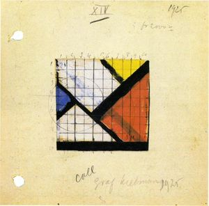 Theo Van Doesburg - Étude pour Counter Composition XIV