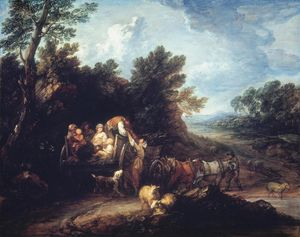 Thomas Gainsborough - The Harvest Wagon