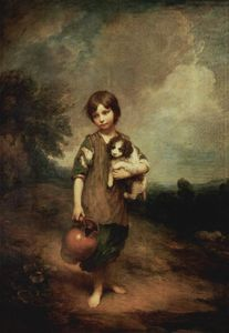 Thomas Gainsborough - Un paysan fille à à chien et ​​ cruche