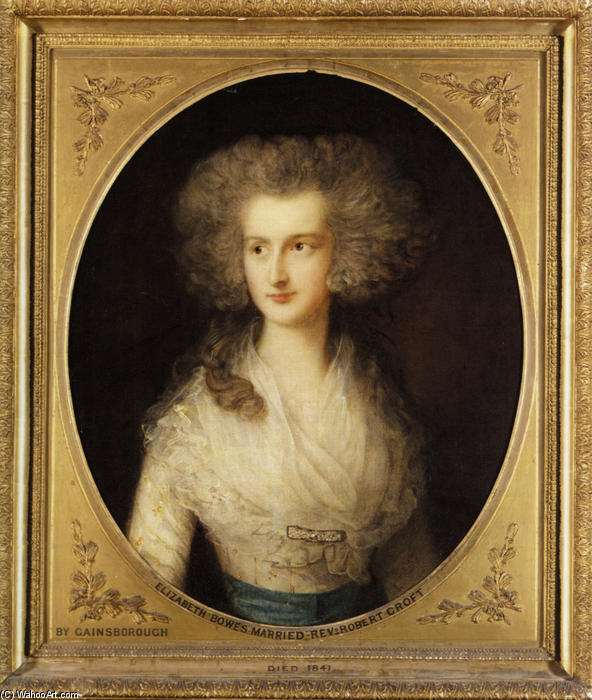 Achat Reproductions D'art | Portrait d Elizabeth Bowes de Thomas Gainsborough (1727-1788, United Kingdom) | WahooArt.com