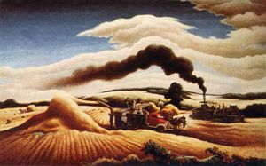 Thomas Hart Benton - Battage du blé