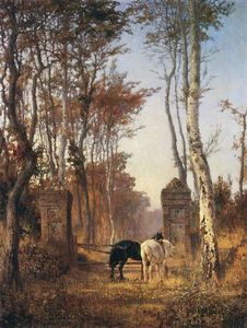 Vasily Dmitrievich Polenov - Old Gates. Normandie.