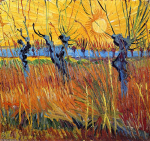 Vincent Van Gogh - Pollard Willows et Setting Sun
