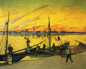 Vincent Van Gogh - Coal Barges