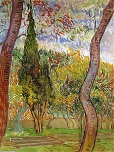 Vincent Van Gogh - le jardin des saint-paul `hospital`