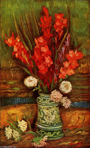 Vincent Van Gogh - Nature Morte pot à rouges Glaïeuls
