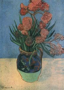 Vincent Van Gogh - Still vase life with oleanders