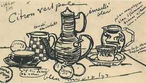 Vincent Van Gogh - nature morte avec café `pot`