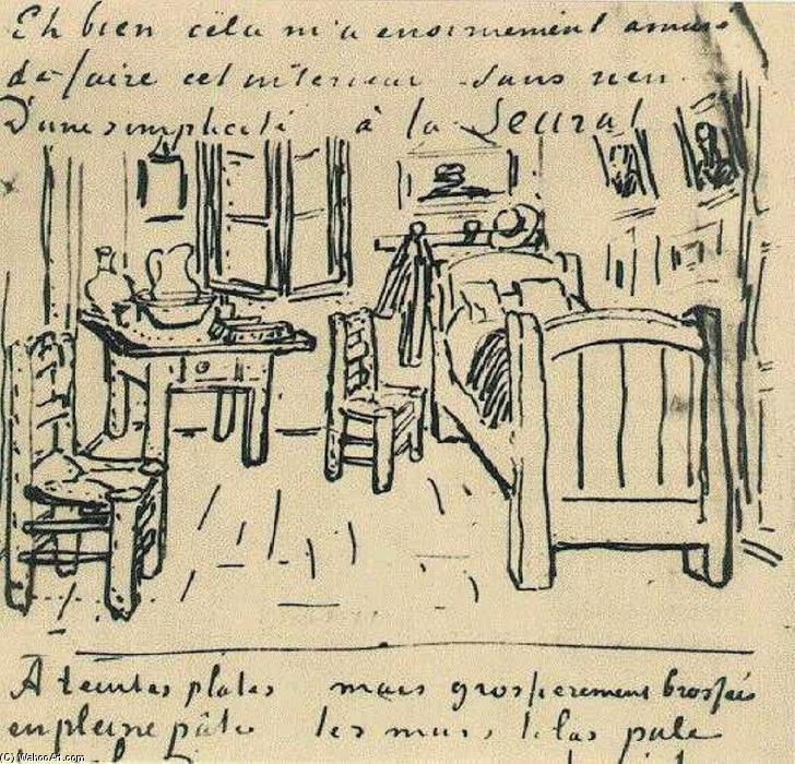 La chambre de vincent encre de vincent van gogh 1853 - La chambre a coucher de vincent van gogh ...