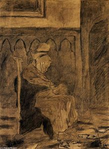 Vincent Van Gogh - Old Woman Asleep après Rops