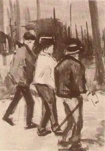 Vincent Van Gogh - Trois Woodcutters Walking