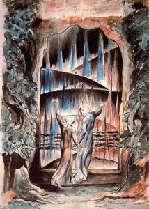 William Blake - Dante et Virgile à la Porte de l Enfer