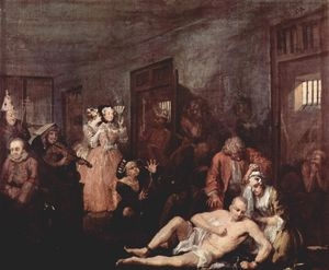 William Hogarth - Le Madhouse