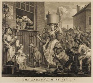 William Hogarth - Le enragé Musicien