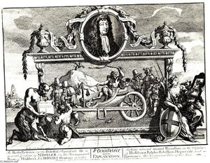 William Hogarth - Frontispice et son explication (Hurdibras)