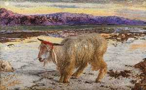 William Holman Hunt - Le bouc émissaire