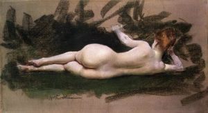 William Merritt Chase - nudité étendue