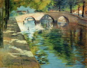 William Merritt Chase - Réflexions alias canal scène