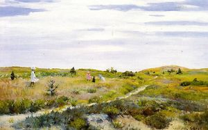 William Merritt Chase - Along le chemin à shinnecock