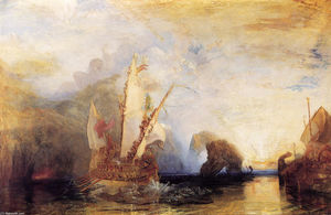 William Turner - Ulysse raillant Polyphème