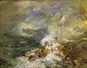 William Turner - feu à mer