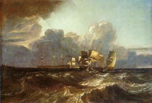William Turner - Embarcations roulements pour Anchorage ( La Piece Egremont mer »)