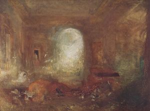 William Turner - Intérieur of Petworth Maison