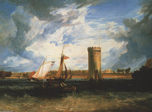 William Turner - Tabley, Seat de monsieur JF Leicester Bt .: Windy Day