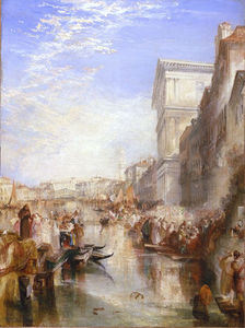 William Turner - Le Grand Canal scène une De rue à venise
