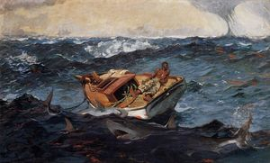 Winslow Homer - Le Gulf Stream - (reproduction de peintures célèbres)