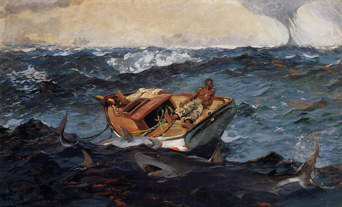 Le Gulf Stream, 1906 de Winslow Homer (1836-1910, United States) | Reproductions D'art Winslow Homer | WahooArt.com