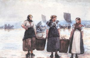 Winslow Homer - Pêcheuses, Cullercoats