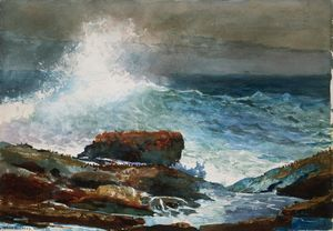 Winslow Homer - Incoming Tide, Scarboro Maine