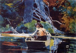 Winslow Homer - Le guide Adirondack