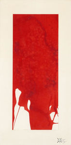 Yves Klein - Monochrome rouge Untitled