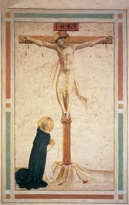 Fra Angelico - Crucifixion avec st Dominic ( Cellule 17 )