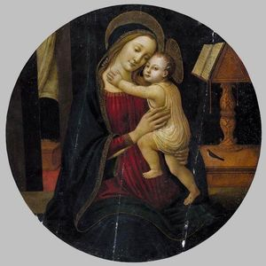 Jacopo Del Sellaio - madonna et l'enfant