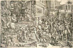 Domenico Campagnola - Massacre des Innocents