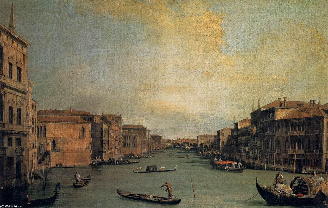 Achat Reproductions D'art | Le Grand Canal, 1728 de Giovanni Antonio Canal (Canaletto) (1730-1768, Italy) | WahooArt.com