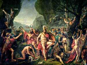 Jacques Louis David - Leonidas au Thermopyles