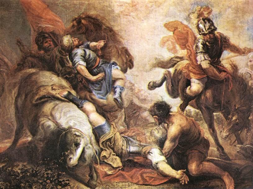 le conversion des r paul, huile sur toile de Juan Antonio Frias Y Escalante (1633-1669, Spain)