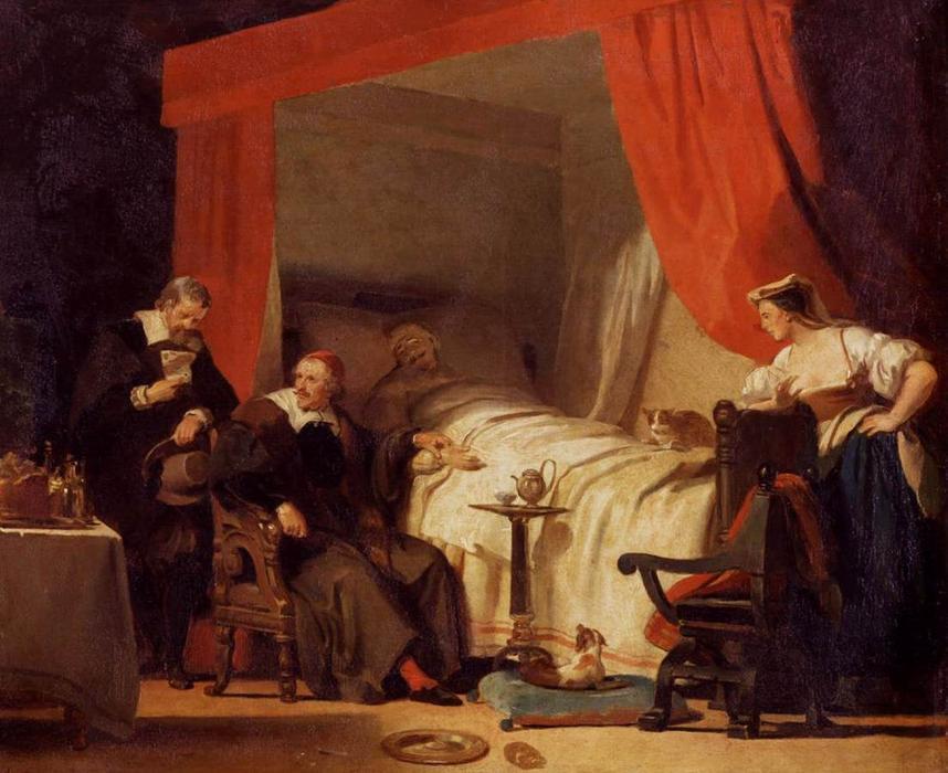 Cardinal Mazarin Au Lit De Mort D Eustache Le Sueur De