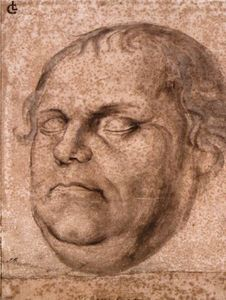 Lukas Furtenagel - Portrait Sketch of the Dead Martin Luther