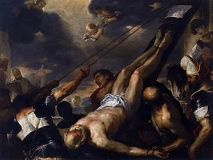Luca Giordano - Crucifixion of r Peter