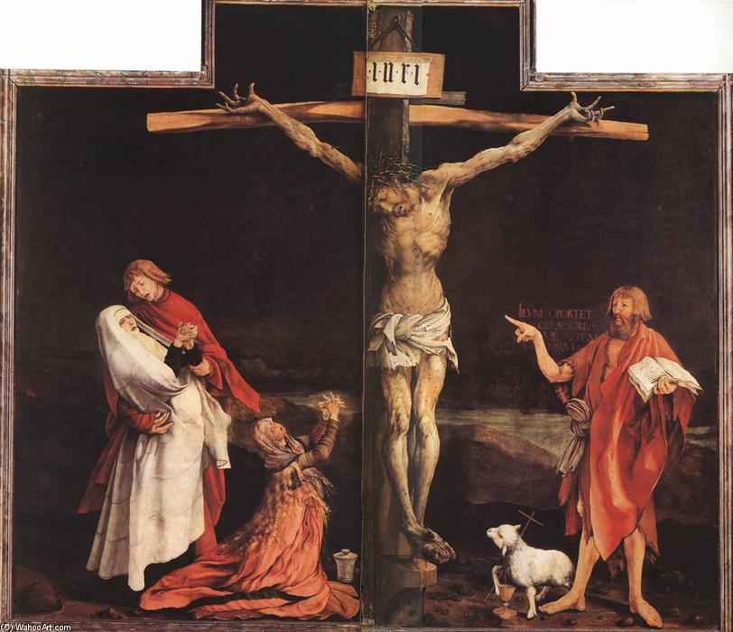 La Crucifixion, 1515 de Matthias Grünewald (1480-1528, Germany) | Copie Tableau | WahooArt.com