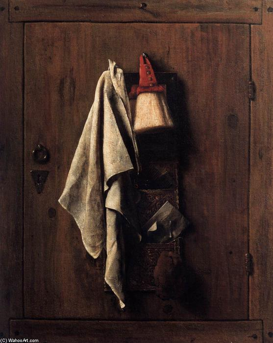 trompe l oeil pourtant vie huile sur toile de samuel dirksz van hoogstraten 1627 1678. Black Bedroom Furniture Sets. Home Design Ideas