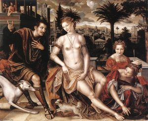 Jan Massys - david et bathsheba
