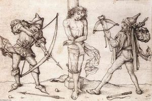 Master Of The Housebook - Saint-Sébastien avec Archers