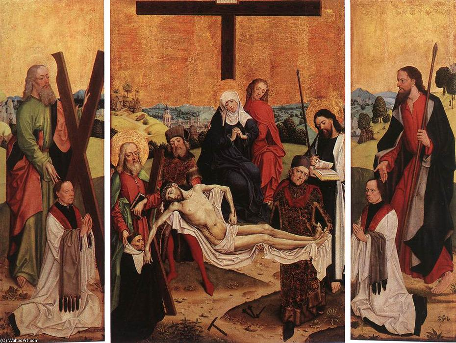 Triptyque de Canon Gerhard ter Streegen de Monte, 1480 de Master Of The Life Of The Virgin | Reproductions D'art De Musée Master Of The Life Of The Virgin | WahooArt.com
